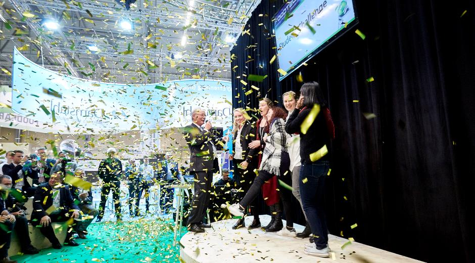 FoodTech 2018 offers a wide variety of activities, including the innovation competition FoodTech Challenge & InnovateFood.dk, which will be held in the new concept hall Tech City. The photo shows the 2016 winners. Photo: MCH/Torben Worsøe